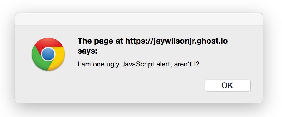 Ugly JavaScript Alert
